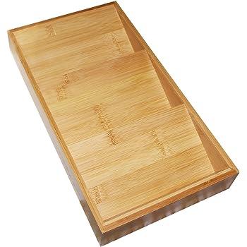 3 Tier Wooden Bamboo Herb Spice Rack Adjustable In Length Empty