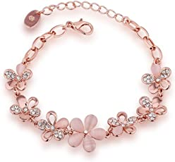Jewels Galaxy Copper Charm Bracelet for Girls (Golden)(SMNJG-BNG-3020)