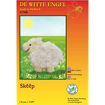 19 x 17 x 2 cm Multi-Colour De Witte Engel Little Hare Child DIY Doll 100 Percent Woollen Felt Kit