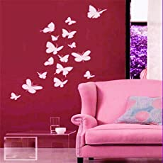 """Kayra Decor """"Butterflies on My Wall"""" Stencil for Decor/DIY Painting Stencil/Durable Than Wall Stickers in (16 x 24) inches (Plastic Sheet)"""