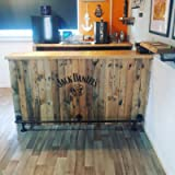 Bar/Kitchen foot rail made of industrial iron