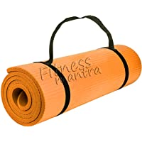 Fitness Mantra® Yoga Mat with Carrying Strap for Gym Workout and Yoga Exercise with 6mm Thickness, Anti-Slip Yoga Mat…
