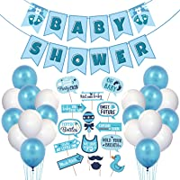 Party Decoration Baby Shower Decorations Props Material Combo 1 Set Baby Shower Banner, 15 Pcs Photo Booth Props and 25…