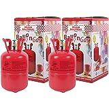 2 Stk. Heliumgasflasche Ballongas Helium Balloon Gas Heliumgas Einweg für ca. 100 Luftballons von Alsino