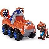 PAW Patrol, Dino Rescue Zuma'S Deluxe Rev Up vehículo con Misterio Dinosaurio Figura