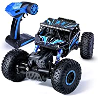 MBE Dirt Drift Remote Controlled Rock Car RC Monster Truck, Four Wheel Drive, 118 Scale 2.4 Ghz(Multi Color)