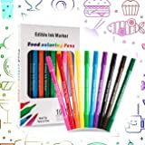 10PCS Stylos Colorants Alimentaires Marqueurs Comestibles,Pointe Fine + Épaisse, Écrivains Gastronomiques De Qualité Alimenta