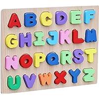 SYGA Educational Wooden Alphabet Block Puzzle Uppercase Letter Learning Toy