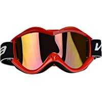 Vega Helmets Dirt Bike Goggles With Optically Correct Lens,(Clear Red, Size Adult)
