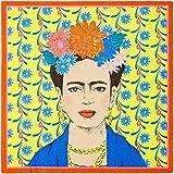 Talking Tables- Paquet de 20 Papier Frida Kahlo Jaune | Serviettes jetables, Salle à Manger intérieure ou extérieure, décorat