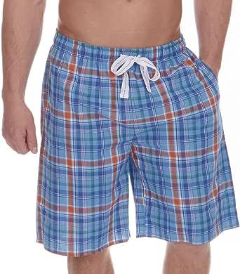 Cargo Bay Mens Lounge Shorts Yarn Dyed Checked Woven Lounge WEAR Pyjama Shorts