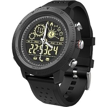 Reloj inteligente deportivo digital para hombres y niños, resistente al agua, Bluetooth, reloj