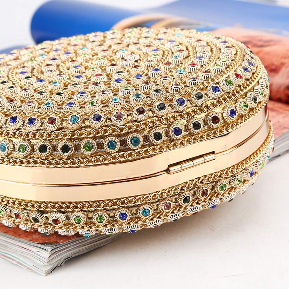 71S hcRRmOL - HARPIMER Mujer Monedero de embrague de bolso de noche de cristal de diamantes de imitación multicolor para boda y fiesta