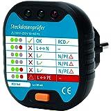 Kopp 171002012 Stopcontacttestapparaat voor aansluitcontrole met optische weergave, antraciet