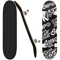 """Skateboard Completo per Principianti, 31 """"x 8"""" skateboard adulto, ABEC-9 Tavola doppia superficie concava adatta a…"""