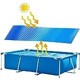 Zonne-afdekking voor zwembad, frame afdekzeil, regenbestendige stofkap, mat voor zwembadbeschermer, isolatie voor bubbelbad,