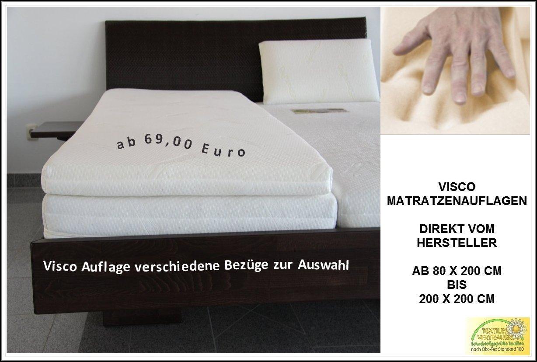 Pyramidenkönig 5cm Viscoelastische Matratzenauflage Mit Bezug Milano Härte  3 Visco Auflage Topper Memory Matratze Gelschaum (100 X 200 Cm): Amazon.de:  Küche ...