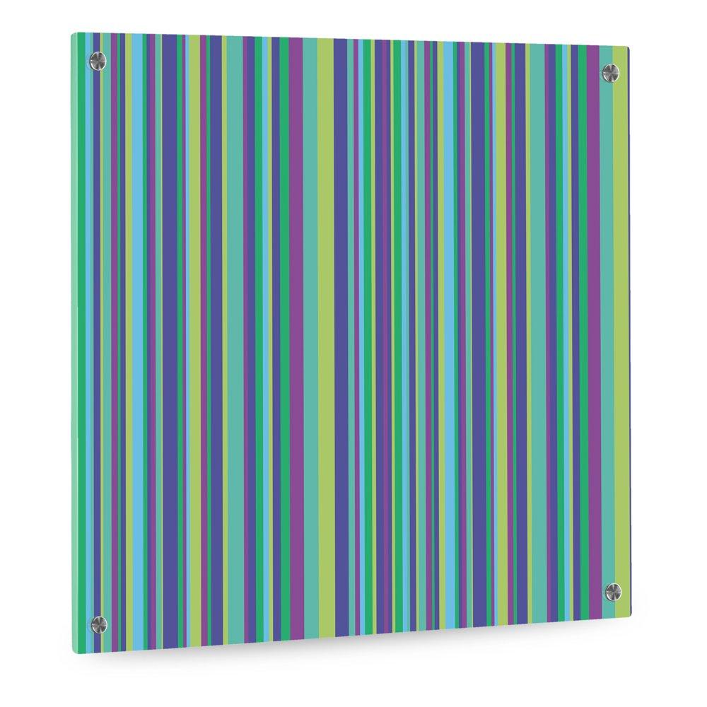 Küchenrückwand Aus Plexiglas   Motiv: Blau Grüne Streifen   Format 60 X 60  Cm   Stylischer Wandschutz Und Spritzschutz Für Herd, Küche Und Kochbereich  ...