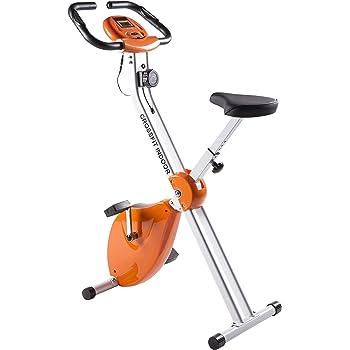 CrossFit Indoor Magnetic-Basic. Bicicleta Estática Plegable de Freno Magnético. Display LCD Multifunción. Ligera & Compacta