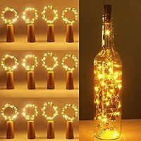 [12 Pack] Bottle Lights, kolpop Cork Lights for Wine Bottles, 2m 20 LED Copper Wire Fairy Lights for Parties, Birthday…