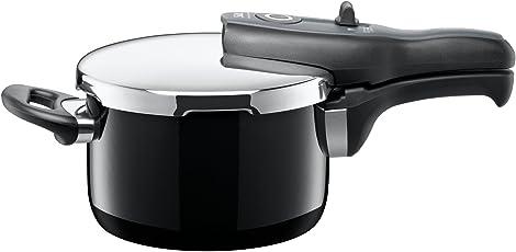 Silit Sicomatic t-plus Schnellkochtopf 2,5l, Silargan Funktionskeramik, 3 Kochstufen Einhand-Kochstufenregler induktionsgeeignet, spülmaschinengeeignet, schwarz, Ø 18 cm