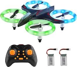 DIZA100 Mini Drohne für Kinder, Mini UFO RC Quadcopter Drone (LED, Höhe-Hold-Modus, Headless-Modus, 360-Grad-Drehung) Fernbedienung Nano Spielzeug für Anfänger