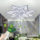 Ventilateurs De Plafond Avec Lampe Intégrée Silencieux Éclairage Avec Télécommande LED Dimmable Moderne Invisible Ventilateur
