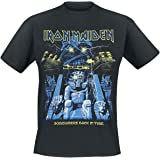 Iron Maiden Back in Time Mummy Hombre Camiseta Negro, Regular
