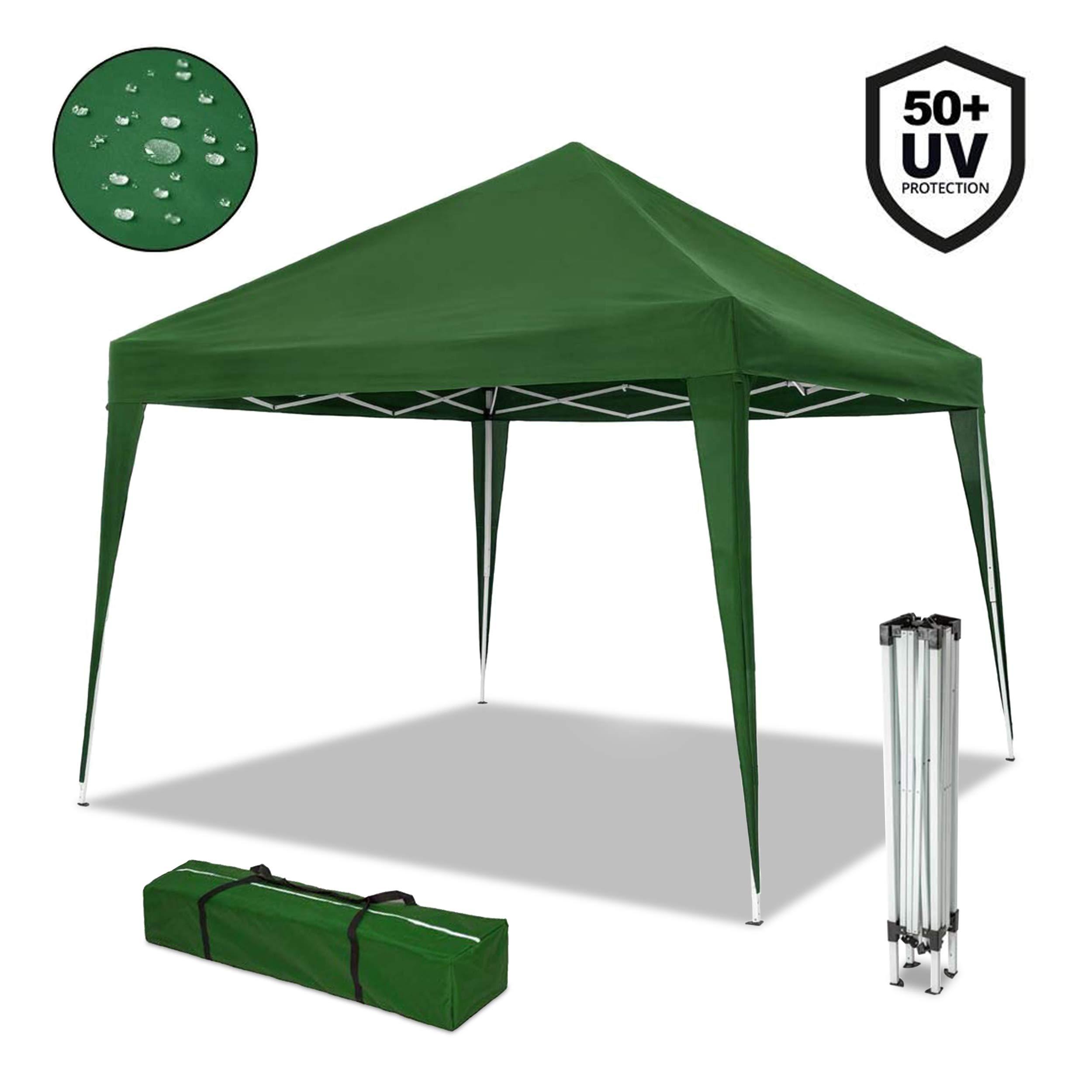 Gazebo Con Sacca.Nouvot Gazebo Richiudibile 3x3 Pieghevole A Fisarmonica Impermeabile Mercato Tenda Con Sacca Colore Verde Faceshopping