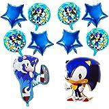 CYSJ Sonic The Hedgehog Globos Decoración de Fiesta Sonic Fiesta temática Decoracion Globo de Papel de Aluminio Sonic Globos