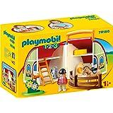 PLAYMOBIL - 1.2.3 Granja maletín Set Juguetes, Multicolor, 70180