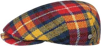Lierys Coppola Capri Colour Harris Tweed Uomo - Made in Italy Cappello Invernale Berretto Piatto Cappellino Lana con Visiera Autunno/Inverno