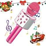 SaponinTree Microphone Karaoké Bluetooth Sans Fil, Haut-Parleur et Enregistreur KTV Trois en Un, Portable Micro Bluetooth pou