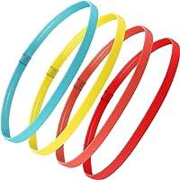 Bememo 4 Pezzi Fasce Sportive Elastiche Antiscivolo Spesse Fasce per Capelli per Donne e Uomini (Giallo Fluorescente…