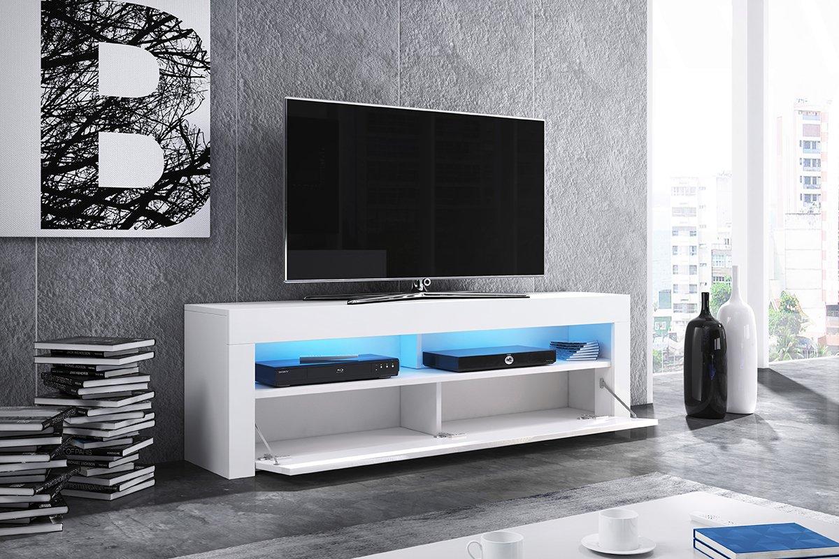 Alan Meuble Tv Table Basse Tv Banc Tv De Salon 160 Cm  # Panneau Melamine Derriere La Tele
