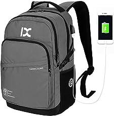 Laptop Rucksack Business Rucksack für 15.6 zoll Laptop Schulrucksack College Rucksack mit USB-Ladeanschluss Daypack Rucksack für Arbeit Wandern Reisen Camping für Herren