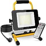 Luxari LED Bouwspots [60W & 5400LM] - Dimbare bouwlamp IP65 waterdicht - 5m kabel & Afstandsbediening - Werklamp LED Spotligh