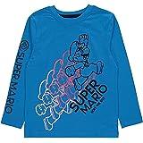 Super Mario Licensed Kids Boys Nintendo Blue Crew Neck Top Age 5-6 Years