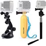 TEKCAM Action Camera Accessories Kits Bundle Compatible for Gopro Hero 7 6 5/AKASO EK7000/APEMAN/Campark/DBPOWER…
