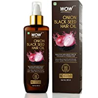 WOW Skin Science Onion Oil - Black Seed Onion Hair Oil - Controls Hair Fall - No Mineral Oil, Silicones & Synthetic…