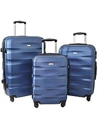 XCASE Pack de 3 valises trolley ultralégères - 46 / 57 / 78 L