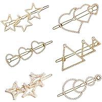 6 Pezzi Perla Clip di Capelli Mollette per Capelli Perle Forcine Per Capelli Clip di perle Geometriche Barrette…