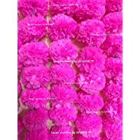 Sphinx Artificial Marigold Fluffy Flowers Garlands for Decoration - Pack of 5 (Baby Pink)