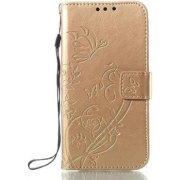 KATUMO Coque pour Galaxie J3 2017, Etuis PU Cuir Coque Portable pour Samsung  Galaxy J3 2017 SM-J330F Housse Portefeuille- 2Or c3c2188c16e