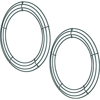 2 Pack Wire Wreath Frame Wire Wreath Making Rings Green For New Year