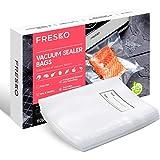 FRESKO Sacchetti Sottovuoto per Alimenti 50pcs 15x25cm, Sacchetti per Sottovuoto Testurizzato di Grado Commerciale per Cottur
