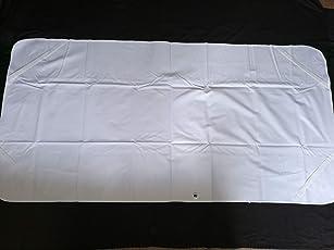 DORMIA® Wasserdichte Molton Matratzenauflage/Matratzenschoner 100 x 200 cm 1A Qualität Weiß 100% Baumwolle + Eckgummis OVP Made in Germany
