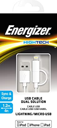 Energizer C11UBDUGWH4 High Tech 2 in 1 Cable - White (Pack of 1)