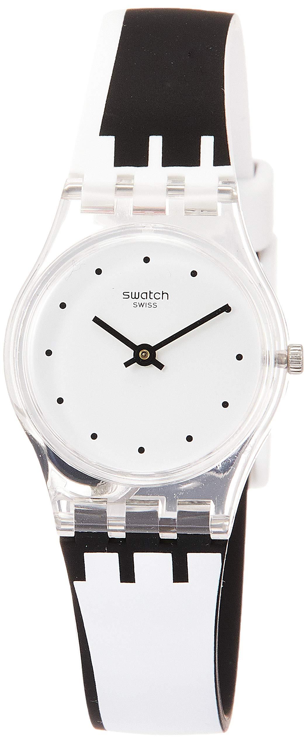 Swatch Reloj Analógico para Mujer de Cuarzo con Correa en Silicona LK370