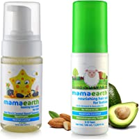 Mamaearth Foaming Baby Face Wash for Kids with Aloe Vera and Coconut Based Cleansers, 120 ml & Nourishing Hair Oil for Babies 100ml (0-10 Years) Combo